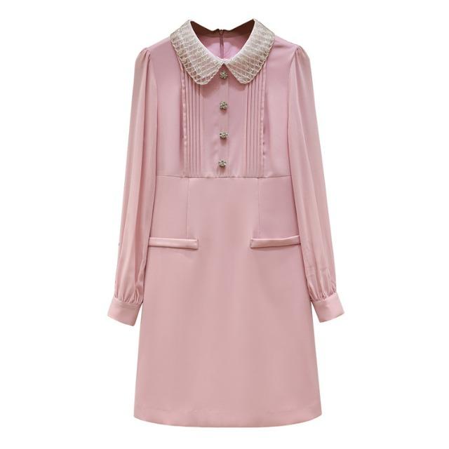 フラワー ビジュー カラー ドレス【R1284】
