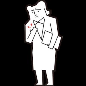 乳房が痛い女性会社員