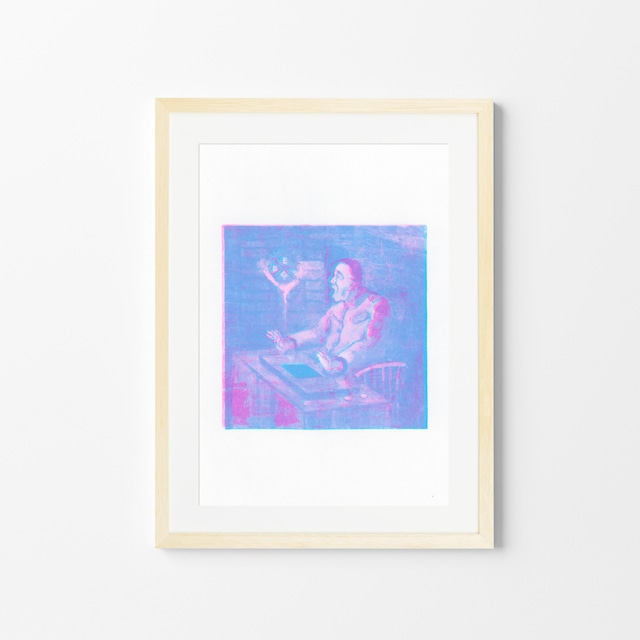 驚嘆する師団長/上原勇希/石引パブリック「リソアートプリント」シリーズ