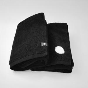 <ツムギラボ>Black bath towel