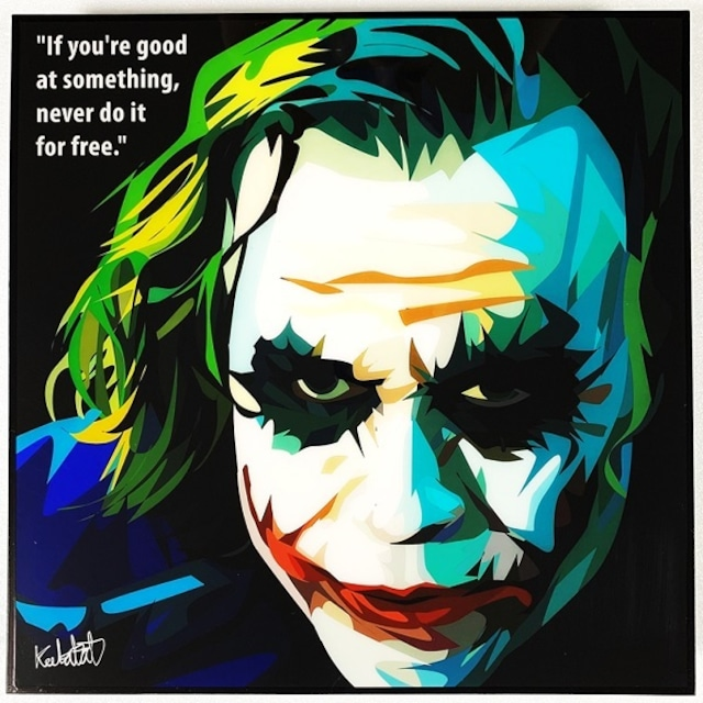 Joker (2) / ジョーカー「ポップアートパネル Keetatat Sitthiket」ポップアートフレーム ポップアートボード グラフィックアート ウォールアート 絵画 壁立て 壁掛けインテリア 額 ポスター プレゼント ギフト インスタ映え 映画 アメコミ キータタットシティケット