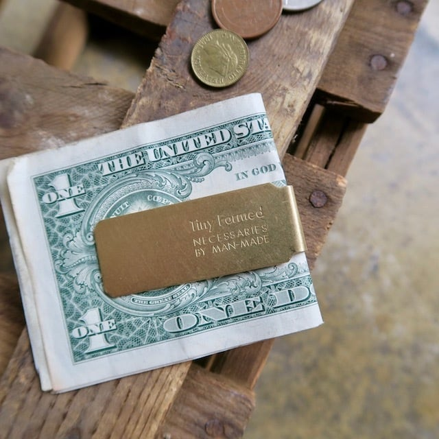 Tiny Formed Tiny metal money clip マネークリップ