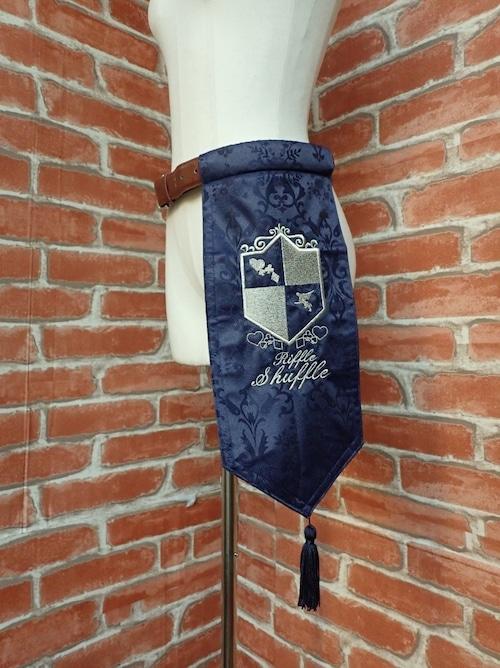 刺繍紋章入り騎士のベルトフェイバー ブルー