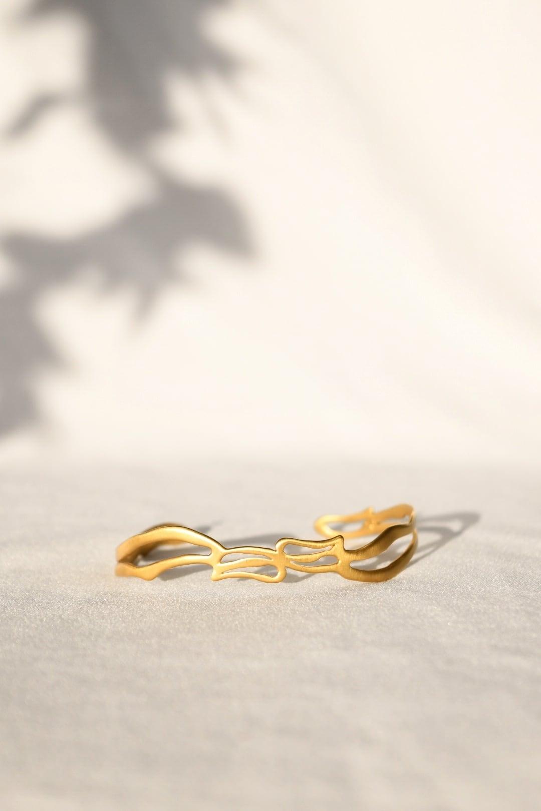 "Arabesque Design Bangle ""thin"" Gold アラベスクバングル スィン ゴールド"