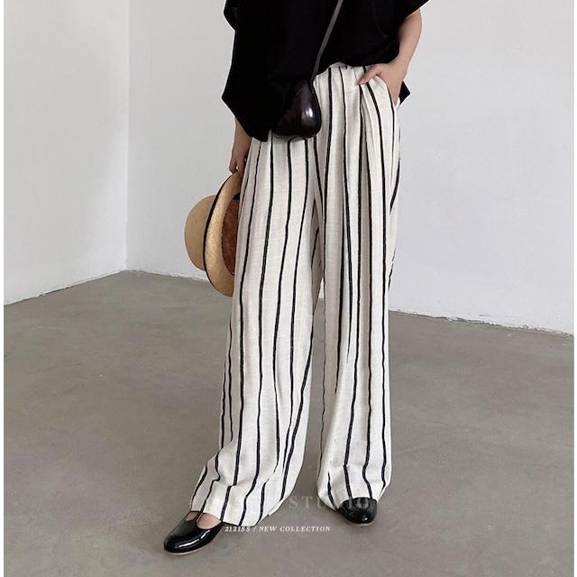 Stripe flare pants  KRE837