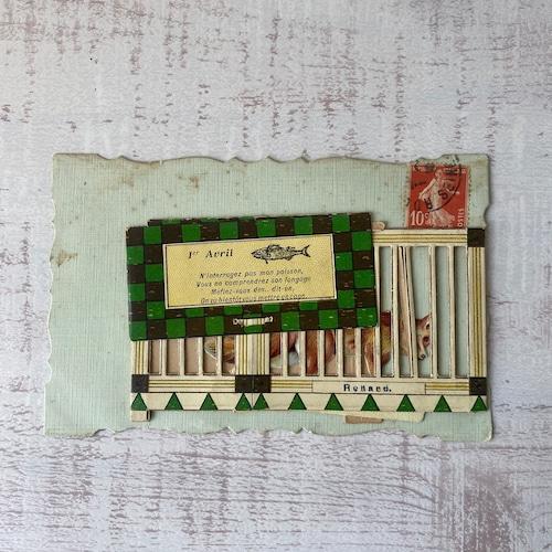 アンティーク Poisson d'Avril ポストカード   /  vp0204