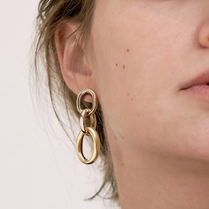 Triple hoop pieces(トリプルフープピアス)a-614