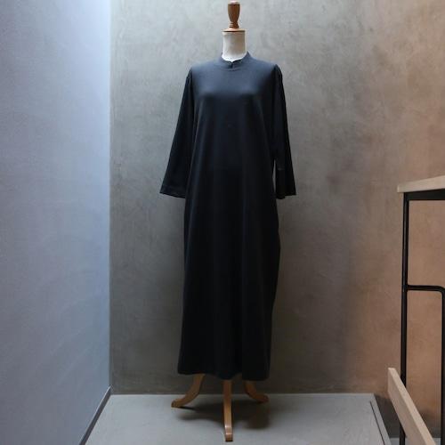 THE HINOKI コットンウールジャージ スタンドカラースリットドレス DARK GRAY #TH21W-34
