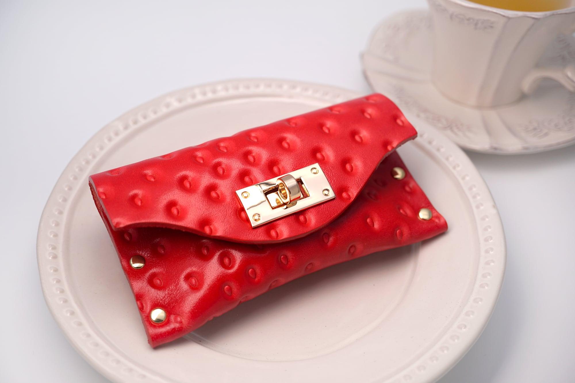 いちごなT式カードケース(名刺入れ)/牛革製