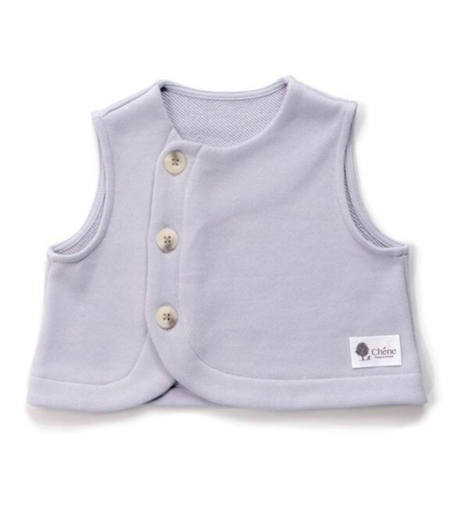 【ベビー服】ベスト / アイスグレー / 80サイズ