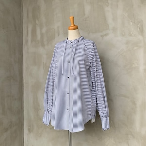 ma couleur/ドロストデザインストライプシャツ