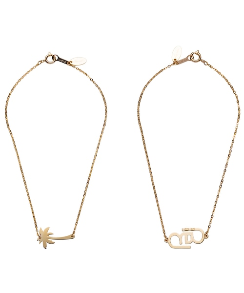 ONE POINT TOP CABLE CHAIN ANKLET-GOLD[REA153]