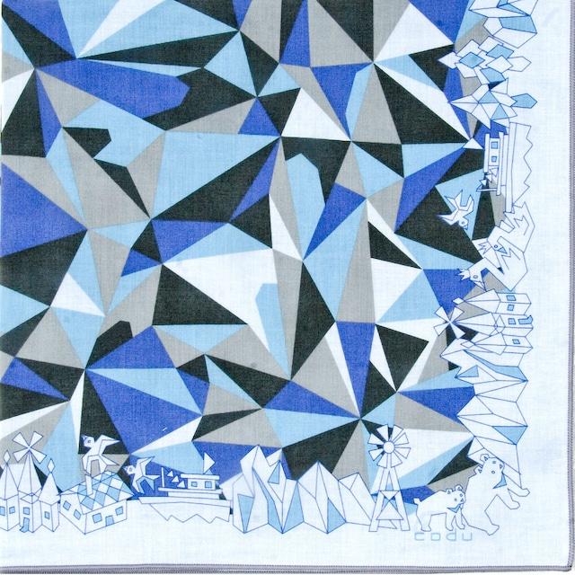 ひびのこづえ ハンカチ mizuumi / ホワイト 2枚合わせ 48x48cm KH19-01