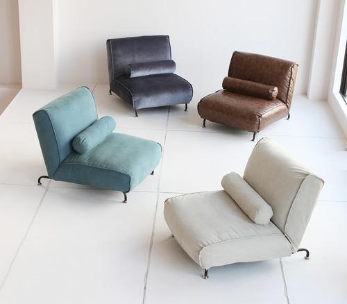 一人掛けソファーで、優雅なくつろぎカフェタイム!デニム、キャンバス、PVC、モケット4種類の選べる生地。
