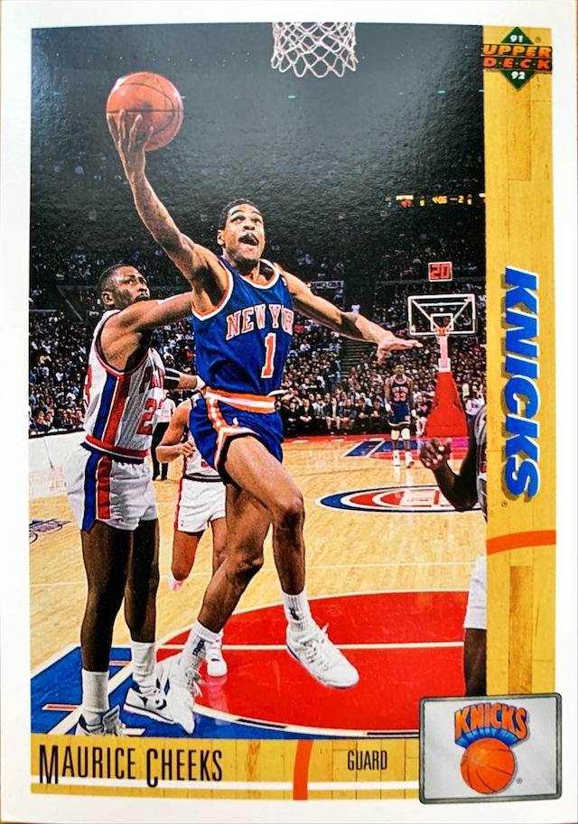 NBAカード 91-92UPPERDECK Maurice Cheeks #281 KNICKS
