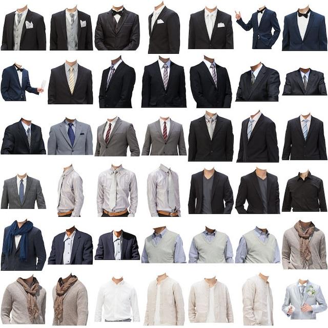 男性着せ替え素材セット(126個)