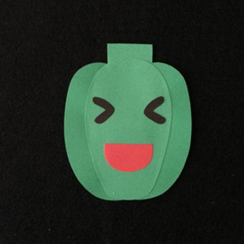 ピーマン(緑)の壁面装飾