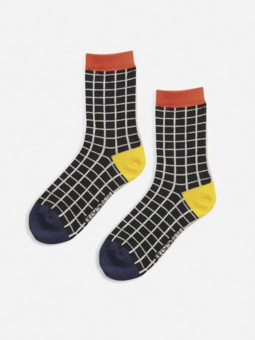 【Bobo Choses】Black Checkered short socks
