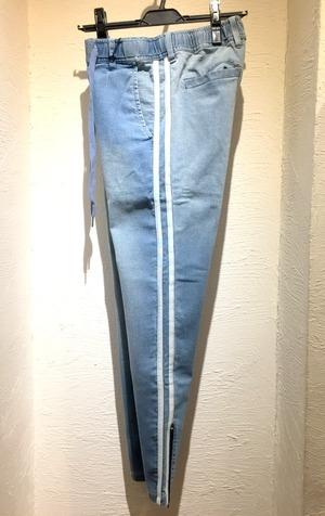Stretch Denim Line Pants Light Indigo