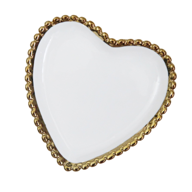 Scallop edge flame heart dish / スカラップエッジフレームハートディッシュ