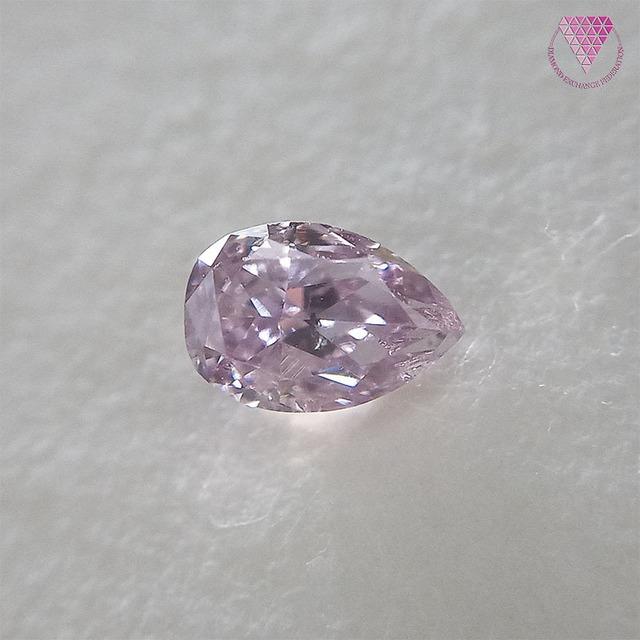 0.160 ct Fancy Purplish Pink SI2 CGL 天然 ピンク ダイヤモンド オーバル