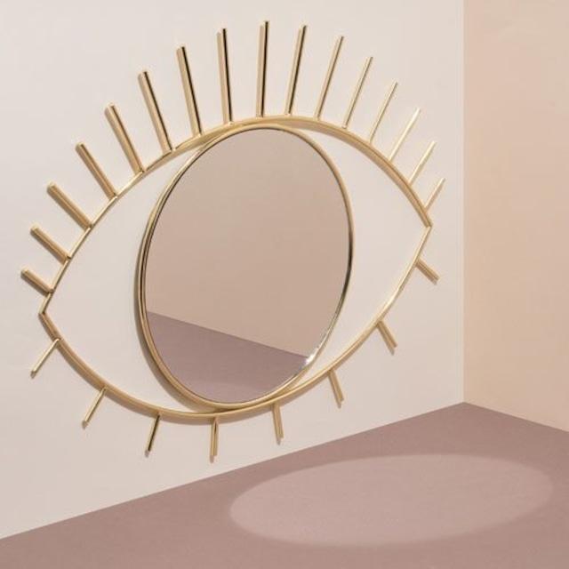 """【DOIY ドーイ】Cyclops Wall Mirror """"L / Gold""""  サイクロプス ウォール ミラー """"L/ゴールド"""""""