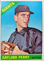 MLBカード 66TOPPS Gaylord Perry #598 GIANTS