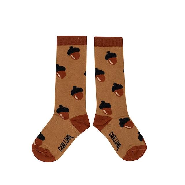 【21AW】カーラインク(CARLIJNQ)Knes Socks acorn 靴下  どんぐり