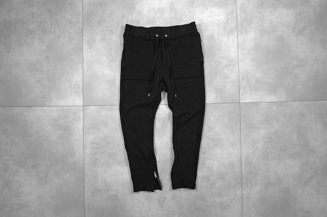 ASKYY / SIDE STRIPE SWEAT PANTS / BLK