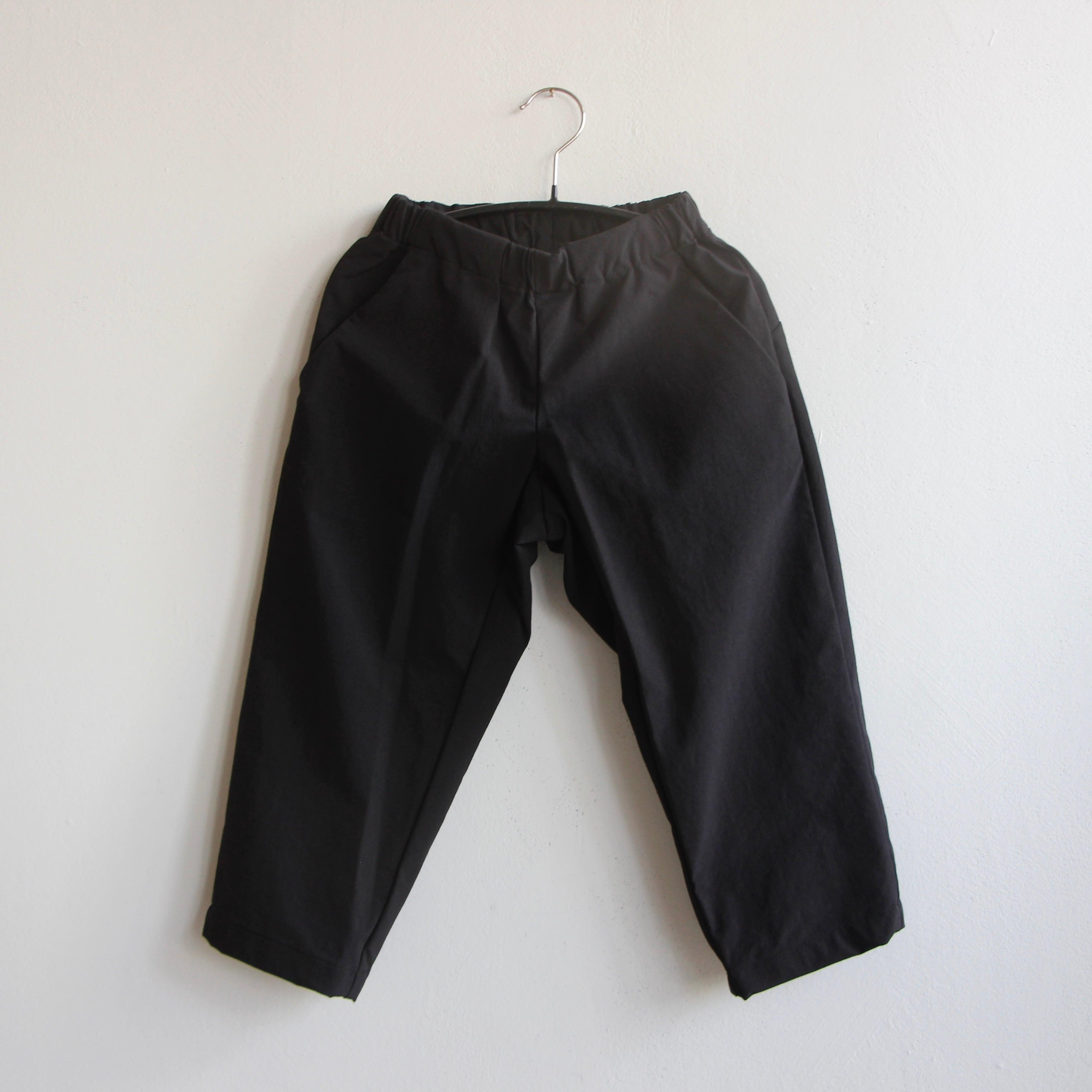 《MOUNTEN. 2021AW》double cloth stretch pants / black / size0(145-155cm程度)
