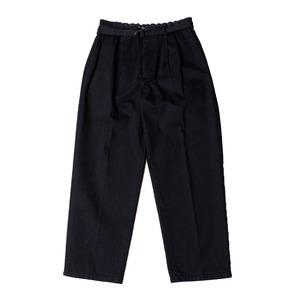 Belt Tuck Wide Pants Denim -black <LSD-AI3P2>
