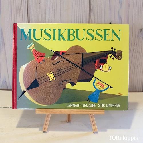 MUSIKBUSSEN  音楽バス  Stig Lindberg スティグ・リンドベリ  絵本