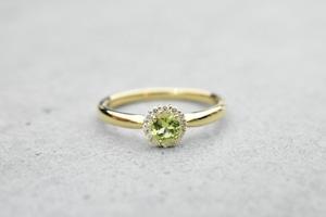 Birth 8 Peridot Ring  / K18YG