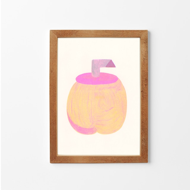 Peachy Fruit / toetiee / 石引パブリック「リソアートプリント」シリーズ