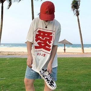 【トップス】キュート愛文字ファッションストリート系半袖Tシャツ46925731