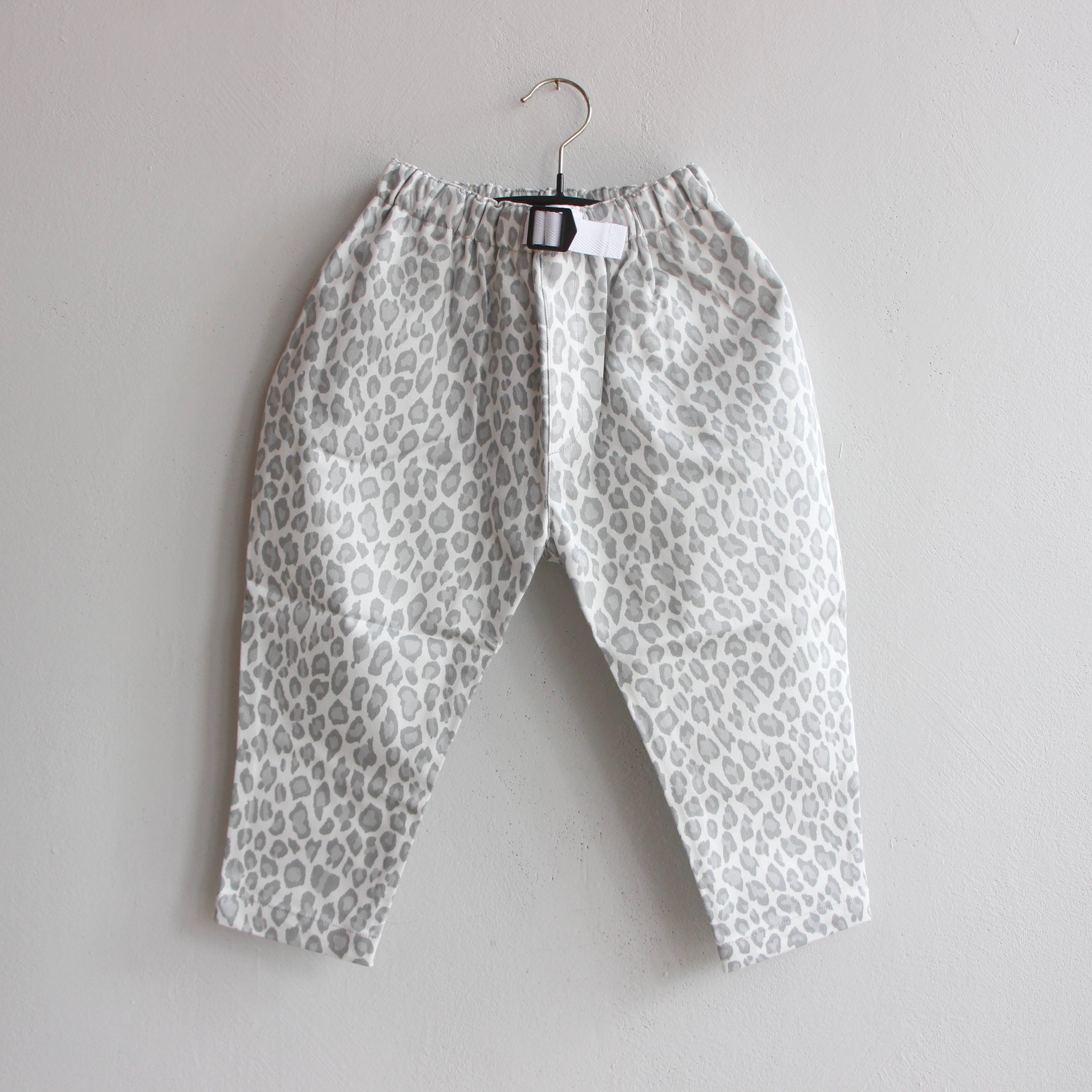 《eLfinFolk 2021AW》Snow leopard  pants / white / 140-150cm