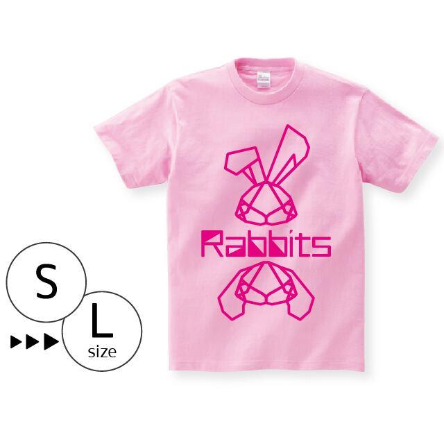 Tシャツ:パキパキラビッツ ライン〈ピンク〉