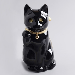へそくりの招き猫 ブラック (小)  / Manekineko Bank-S Black