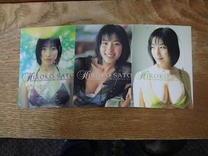 佐藤寛子 BOX特典カード 3枚セット 2004 BOMB