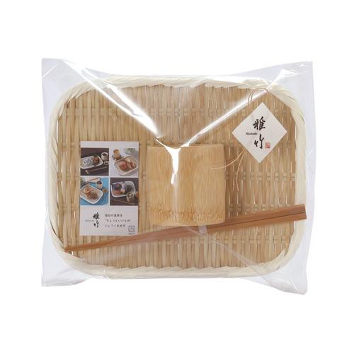 天然竹のざると器のセット(P入) 【91-052】