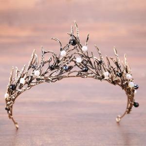 5501髪飾り ティアラ カチューシャ  ヘアアクセサリー ヘアバンド 結婚式ブライダルクラウン