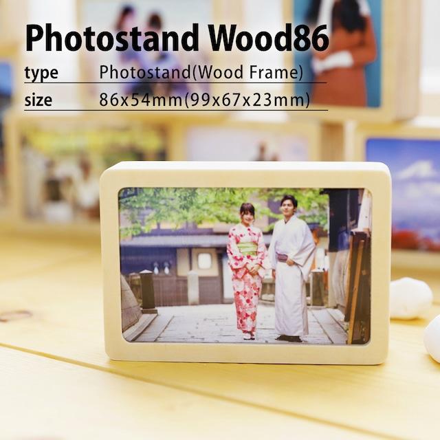 オーダーフォトフレーム木材86(木目フレームS)/ウッドフォトフレーム/写真プリント