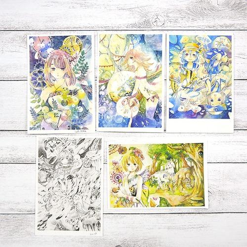 M様限定【嶋波誌麻】限定ポストカード5枚セット/ポストカード