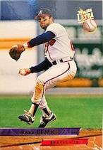 MLBカード 93FLEER Mark Lemke #008 BRAVES