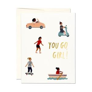 """グリーティグカード「ユー ゴー ガール」 Greeting Card """"YOU GO GIRL"""""""