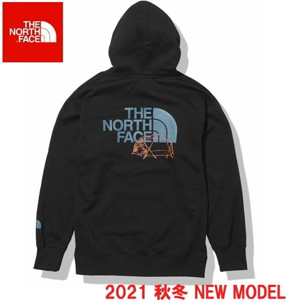 ノースフェイス パーカー スウェット プルオーバー パーカー THE NORTH FACE バックハーフドームフーディ NT62135 ブラック