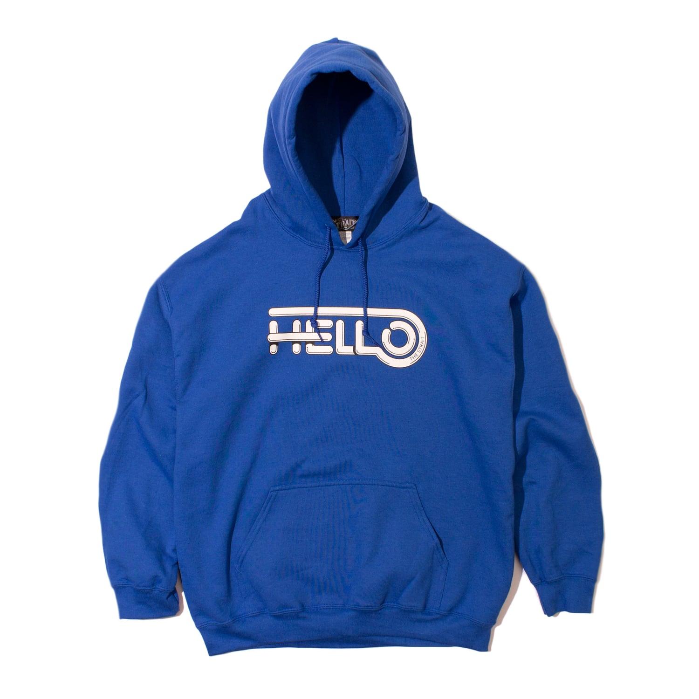 HELLO HOODIE #BLUE