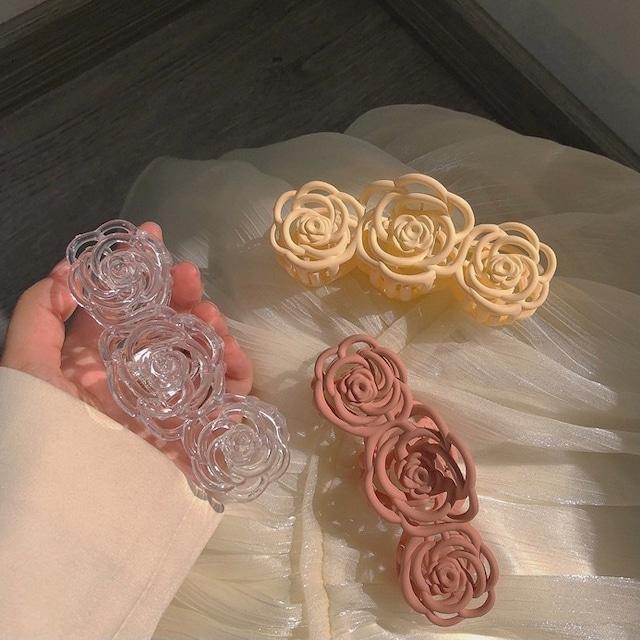 rose line hair clip 3c's