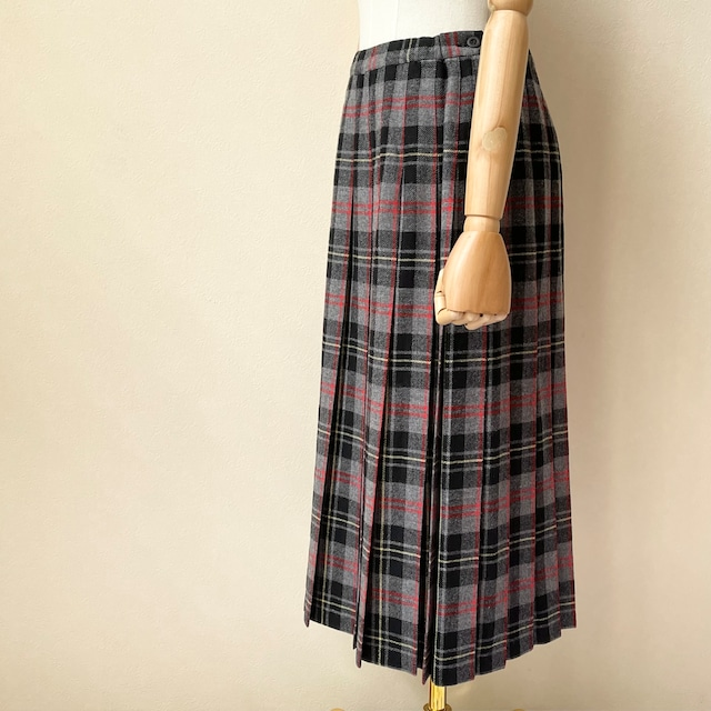 PENDLETON ペンドルトン 70年代 USA製 タータンチェック柄 プリーツスカート ロング丈 ヴィンテージ 古着 日本M
