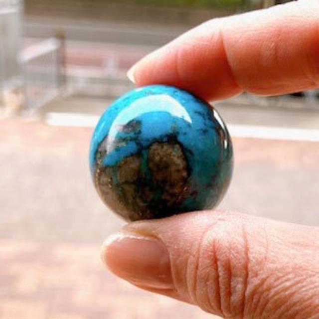 天然丸珠「ターコイズ」モンゴル産
